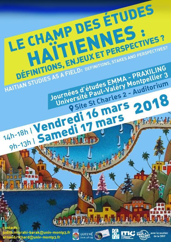 Affiche journée d'étude sur Haïti