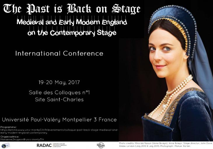 affiche du colloque The Past is Back on Stage