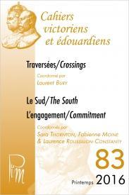 Couverture numéro 83 de la revue des Cahiers Victoriens et Edouardiens